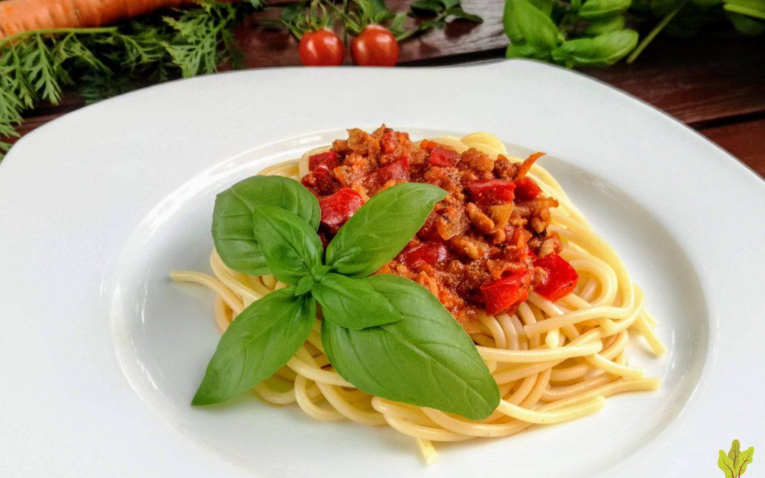 Spaghetti wieprzowo-jarzynowe